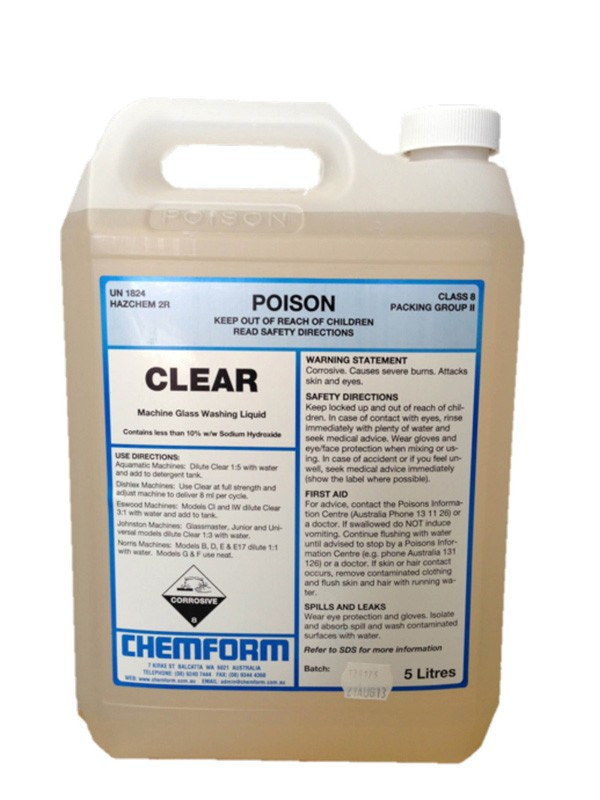 Image of Clear Machine Glass Washing Detergent