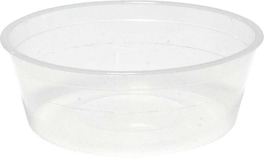 Round Takeaway Container Clear 225ml 50/Pkt