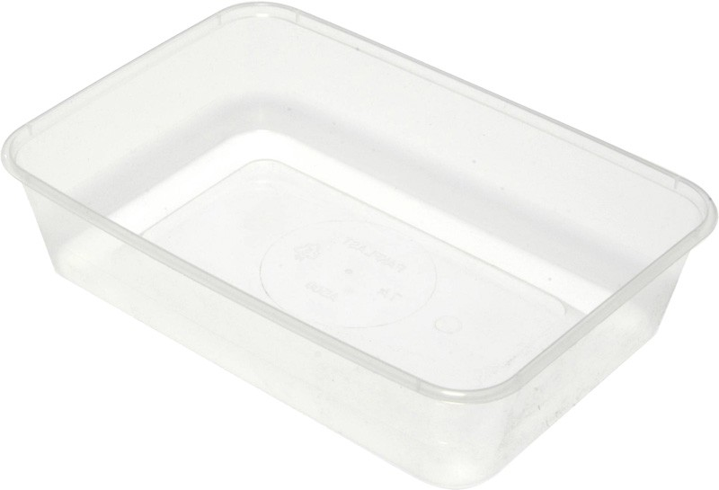 Rectangular Takeaway Container Clear 500ml 50/Pkt