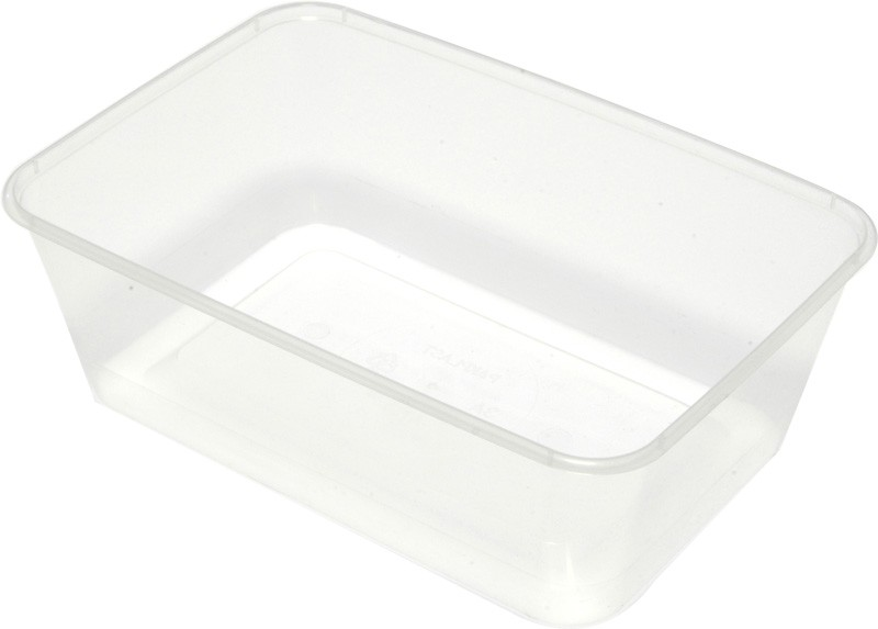 Clear Rectangular Takeaway Container 750ml 50/Pkt