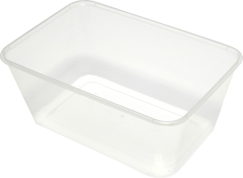 Rectangular Takeaway Container Clear 950/1000ml 50/Pkt