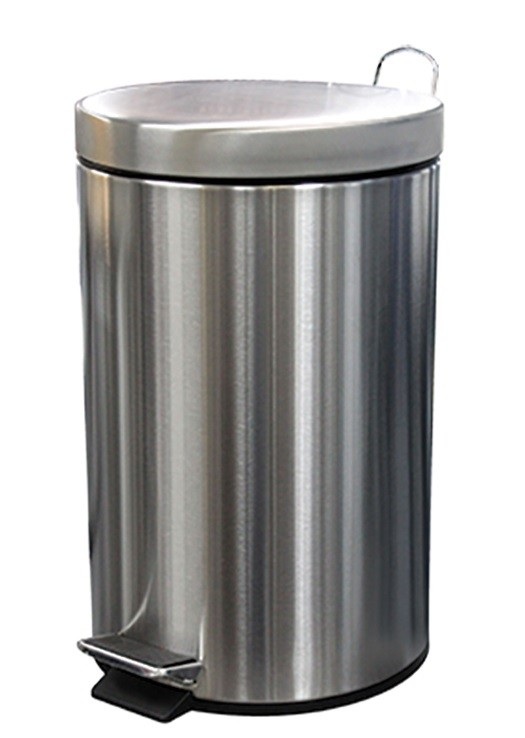Bin Pedal S/S Round 12ltr