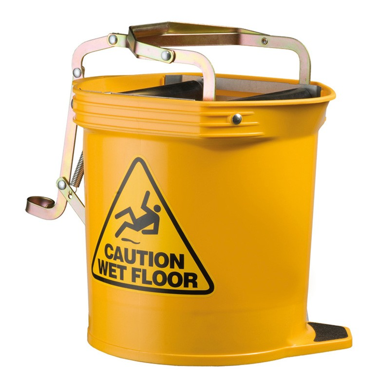 Image of Oates Mop Bucket Wide Mouth 16ltr Yellow