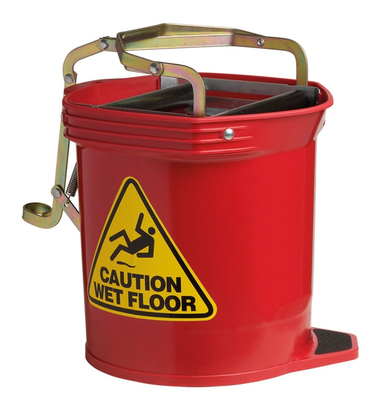 Image of Oates Mop Bucket Wide Mouth 16ltr Red
