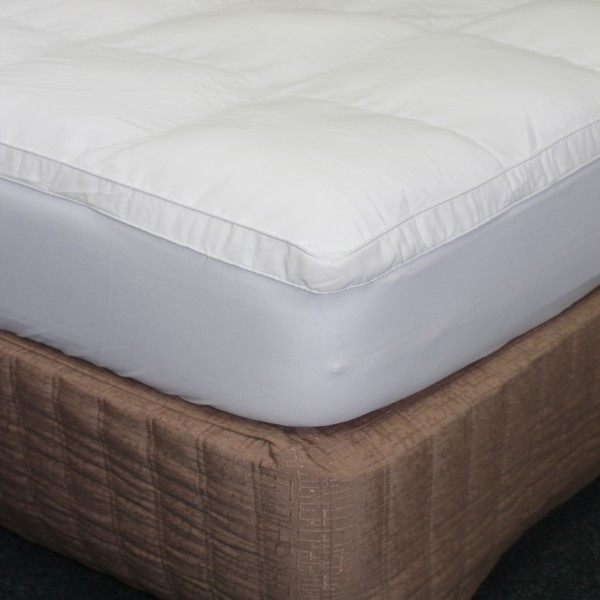 Image of Mattress Topper King High Loft With Natural Cotton Cover