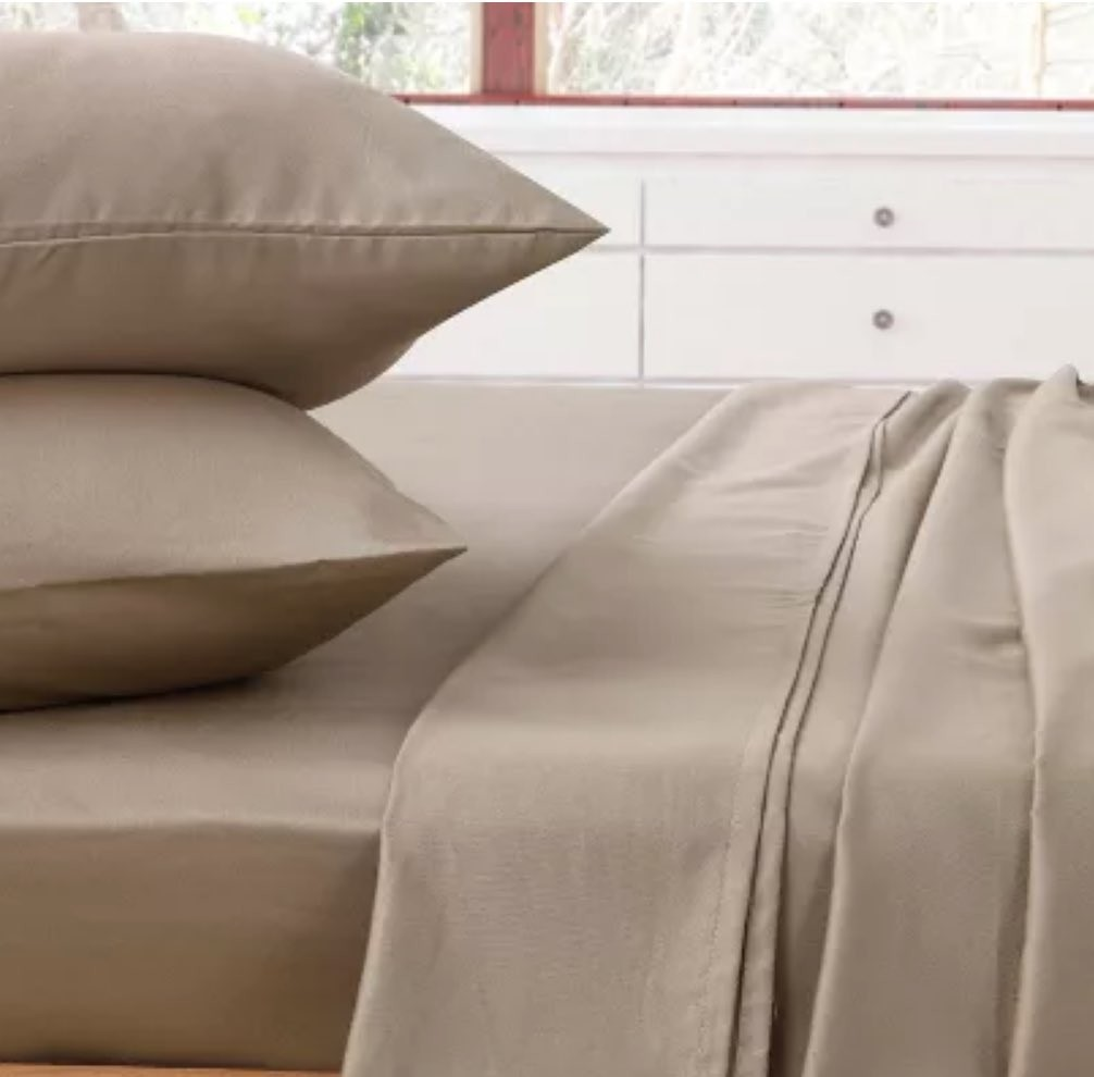 Comfort Collection Flat Queen Sheet Latte