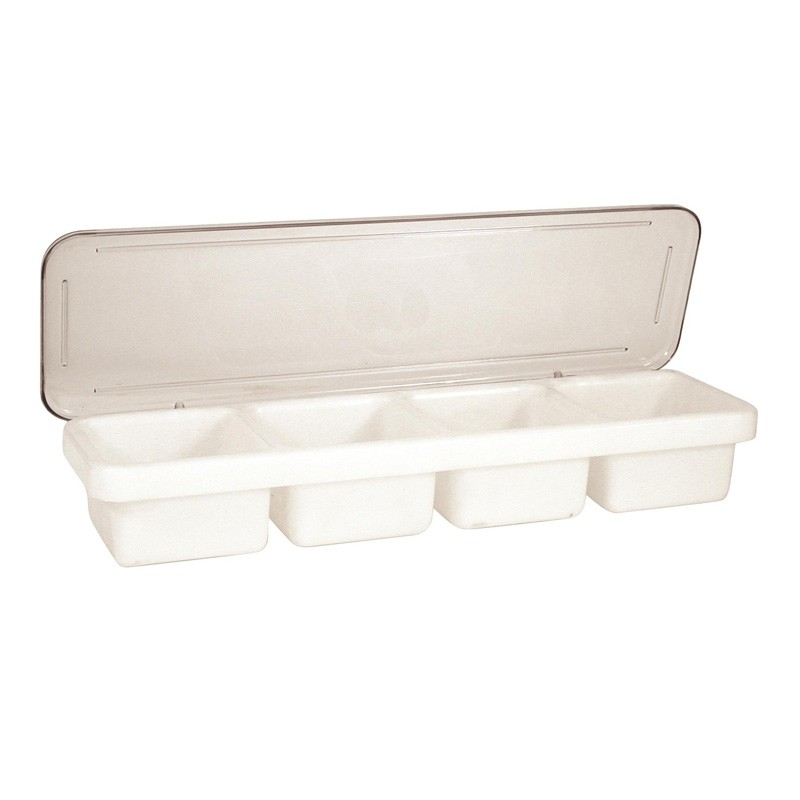 Image of Cocktail Caddy White W/Clear Lid