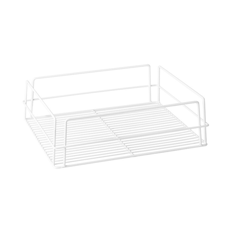 Image of Glass Basket PVC White 435 x 355 x 125mm