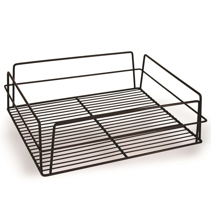 Image of Glass Basket PVC Black 435 x 355 x 125mm