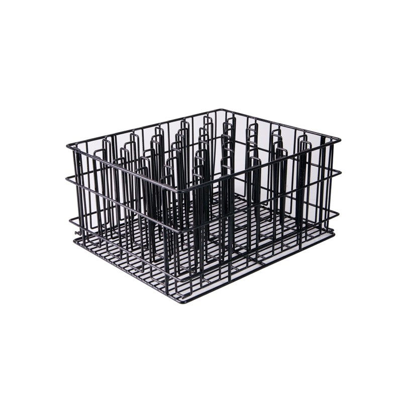 Image of Glass Basket PVC Black 30 Compartment 435 x 355 x 215mm