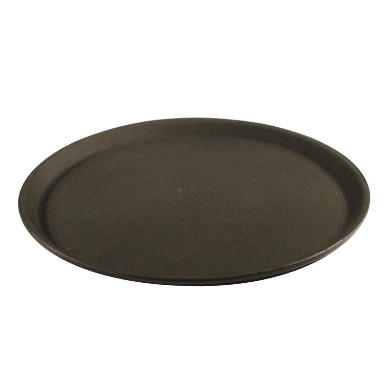 Image of Tray Non Slip Round Black 350mm