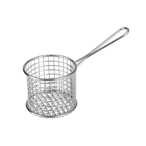 Image of Athena Mini Fry/Service Basket Round S/S 190 x 93 x 128mm