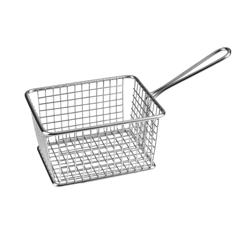 Image of Athena Mini Fry/Service Basket Rectangular S/S 240 x 114 x 78mm