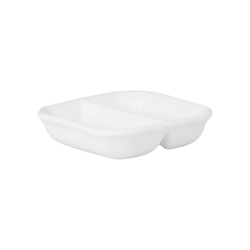 Image of Chelsea Sauce/Spice Dish 2 Compartment 90mm