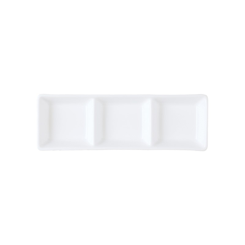 Image of Chelsea Sauce Dish 3 Compartment 185 x 60mm
