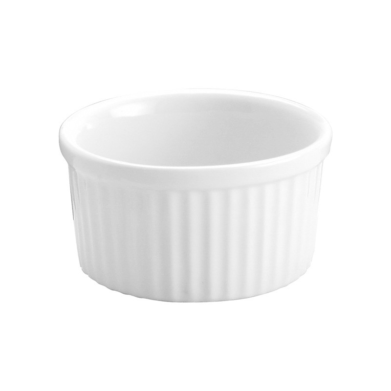 Image of Vitroceram Souffle Dish White Ceramic 74 X 35Mm