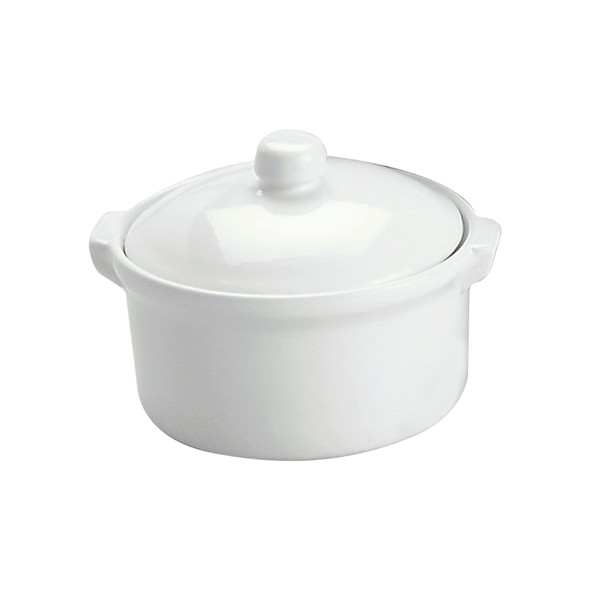 Image of Vitroceram Casserole Dish Round With Cover White 300ml