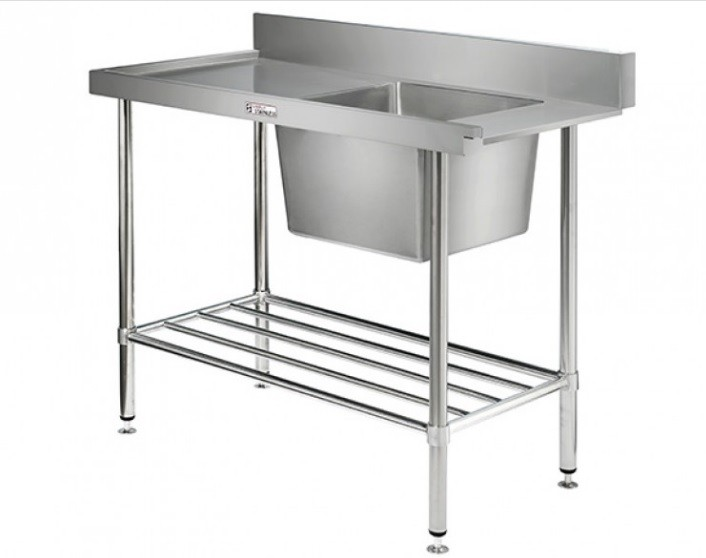 Simply Stainless 700 Series SS08.7.1200.R Dishwasher Inlet Bench Right Hand Feed