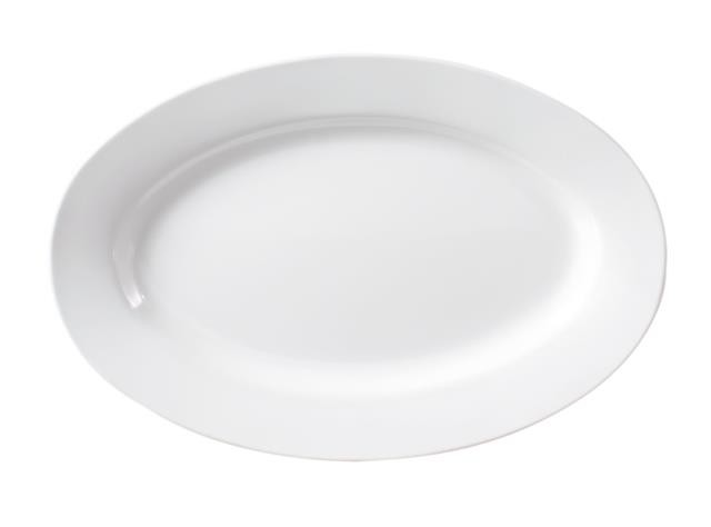 Image of JAB Melamine Plate Oval White 410mm