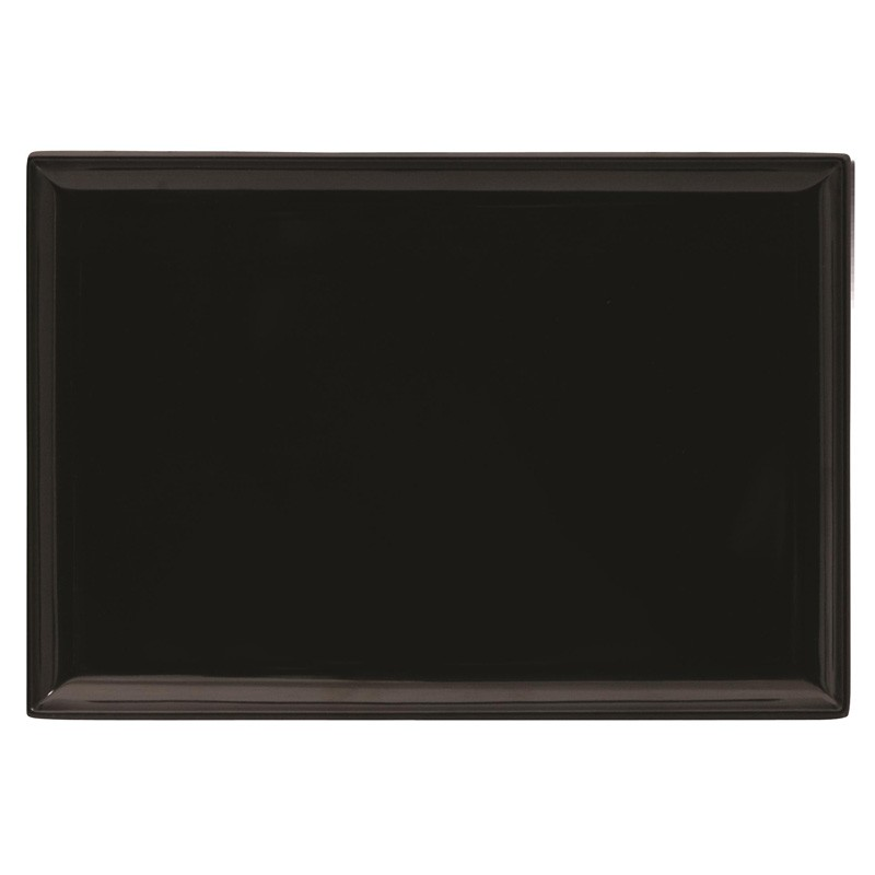 Image of Ryner Melamine Rectangular Platter Black 300 x 220mm