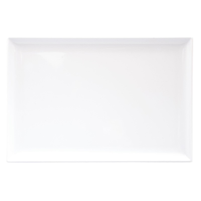 Image of Ryner Melamine Platter Rectangular White 350 x 240mm