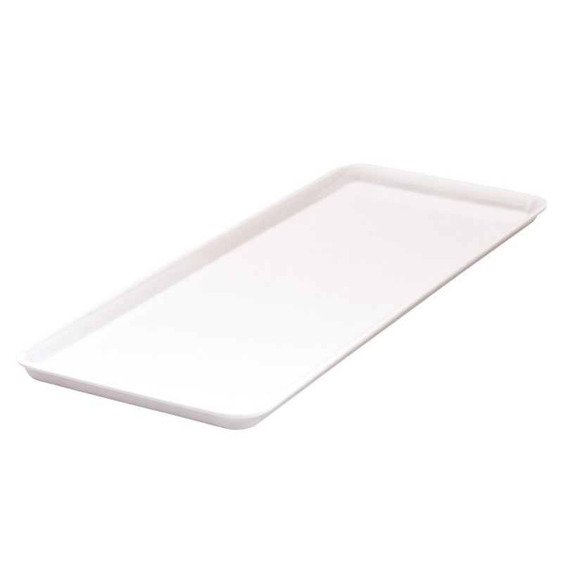 Image of Ryner Melamine Rectangular Platter White 390 x 150mm