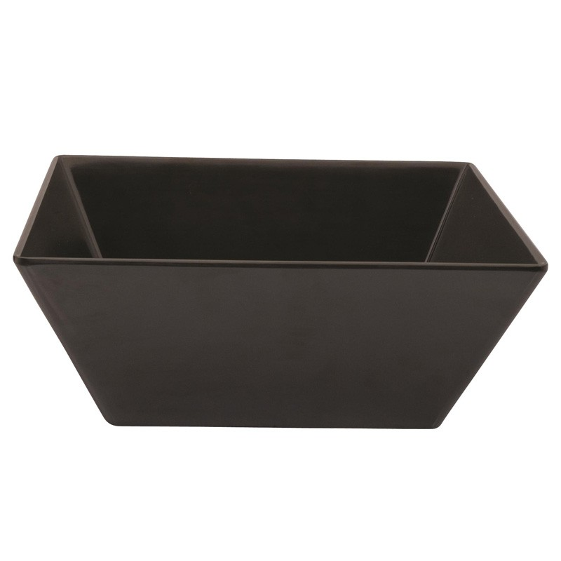Image of Ryner Melamine Square Bowl Black 300 x 300 x 115mm