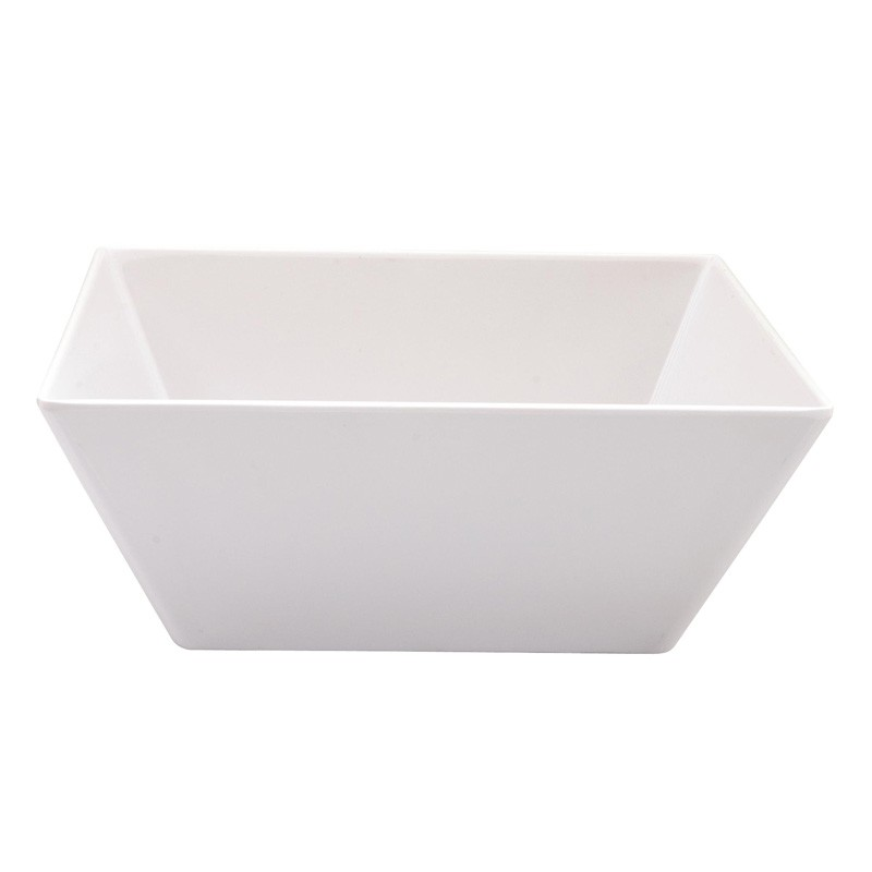 Image of Ryner Melamine Square Bowl White 300 x 300 x 115mm