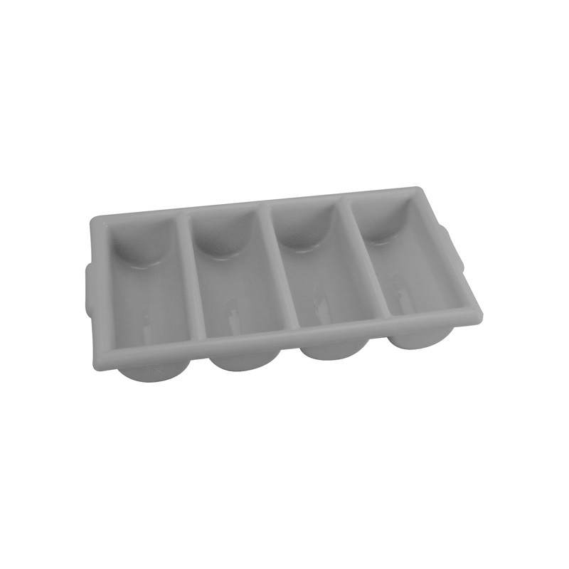 Image of Cutlery Tray 4 Compartments H.D Plastic Grey