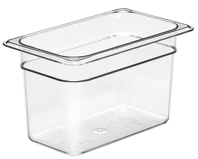 Image of Cambro Food Pan Clear 1/4 Size 150mm (6)