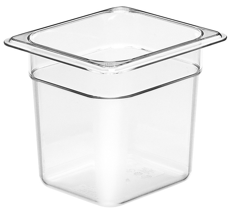 Image of Cambro Food Pan Clear 1/6 Size 150mm (6)