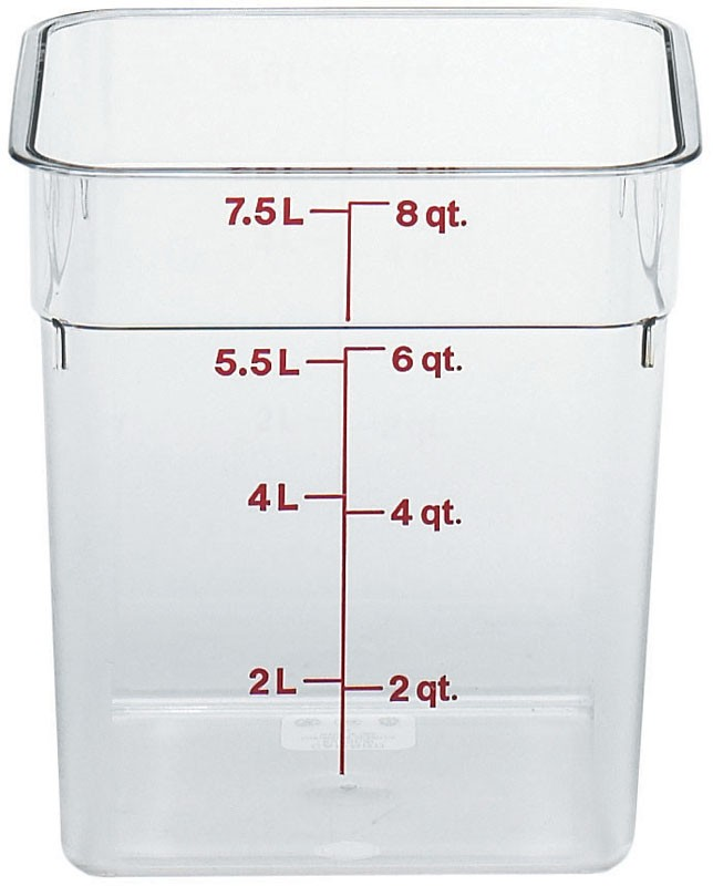 Image of Cambro Camsquare Food Container Poly/Carb 7.6Ltr