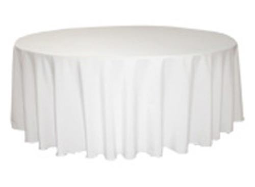 Image of Tablecloth White 100% Poly 300Cm Round