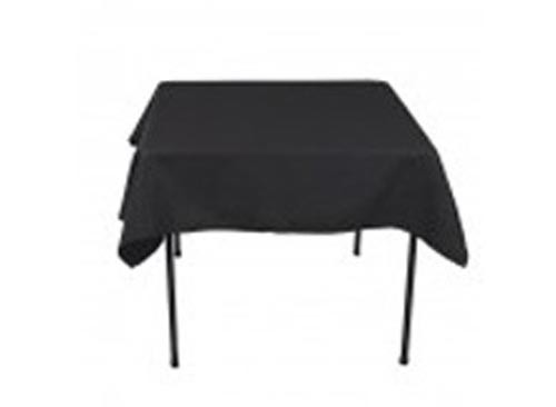 Image of Tablecloth Black 100% Poly 137 x 137Cm