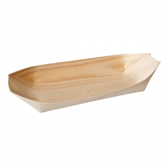 Image of Disposable Pine Oval Boat 140 x 75mm