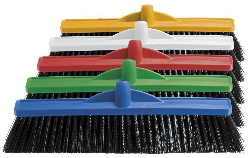Broom Professional Extra Strong Bristle Hard 450mm Head Only (6)