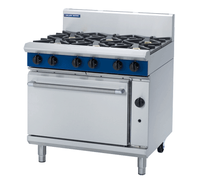 BLUE SEAL G506D OVEN RANGE STATIC 6 BURNER *LPG*