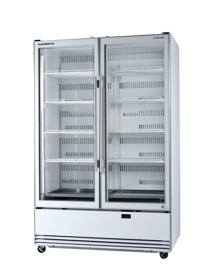 Skope BME Series BME1200N-A Upright Fridge Integral ActiveCore2 White 2 Door