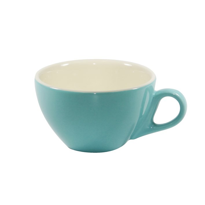BREW CAPPUCINO CUP TEAL/WHITE 220ML
