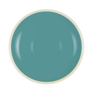 BREW ESPRESSO SAUCER TEAL/WHITE TO SUIT 25280