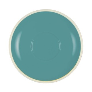 Brew Latte/Mug Saucer Teal/White