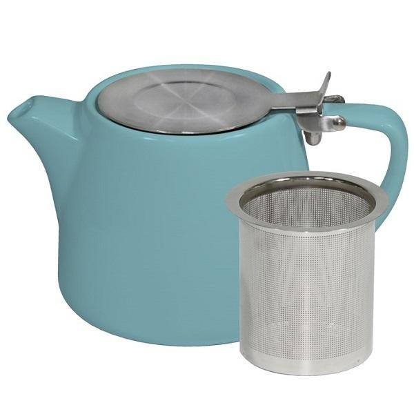 BREW TEAPOT STACKABLE MAYA BLUE 500ML