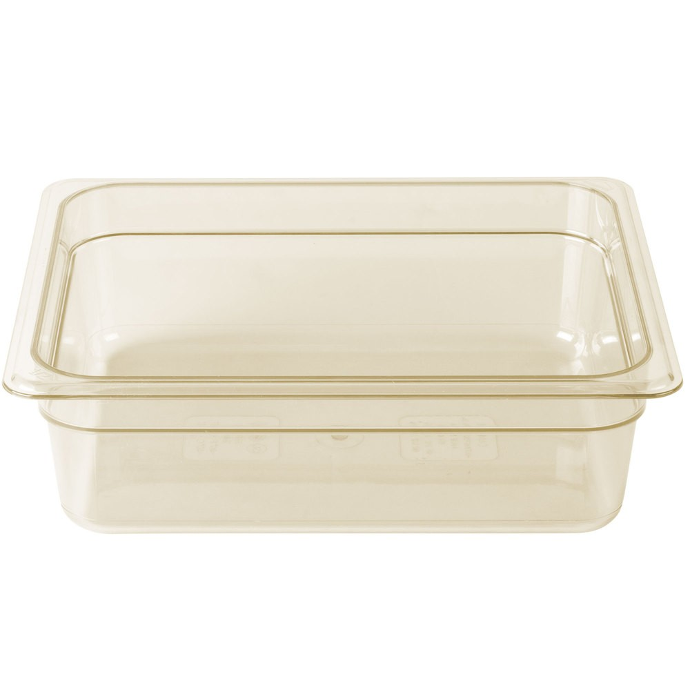 CAMBRO 24HP FOOD PAN AMBER 1/2 SIZE 100MMH