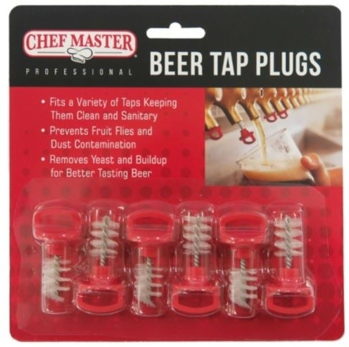 Chef Master 90216 Beer Tap Plugs 6/Pkt
