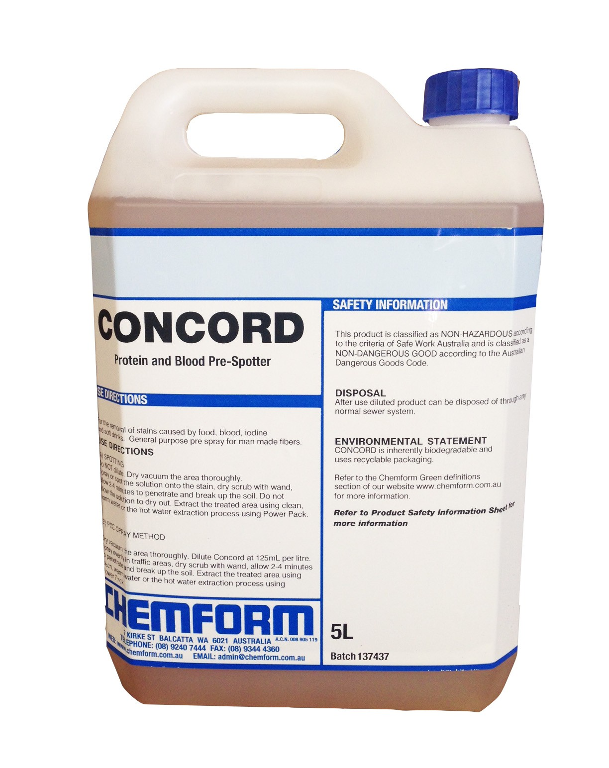 Image of Concord Multi Purpose Stain Remover 5ltr (2)