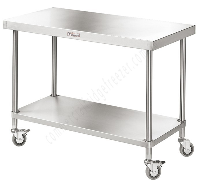 Simply Stainless 700 Series Mobile Work Bench - 600mm x 700mm x 900mmH