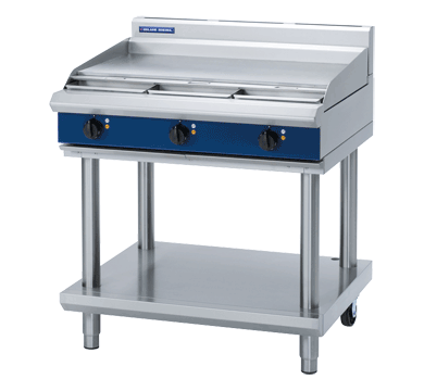 Image of Blue Seal E516A-LS Cooktop Griddle 900mm With Leg Stand Electric