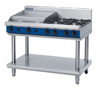 Image of Blue Seal G518B-LS Cooktop 4 Burner & Griddle 600mm With Leg Stand *Nat Gas*