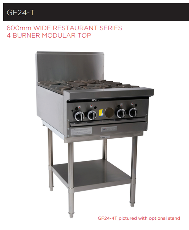 Garland Rest Series GF24-4T Cooktop Modular Top 4 Burner *Nat Gas*