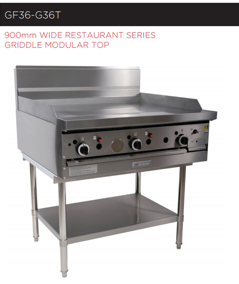 Garland Rest Series GF36-G36T Griddle 900mm Modular Top *Nat Gas*